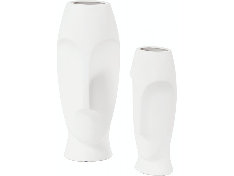 Abstract Faces Vases Set Of 2 Hr34094