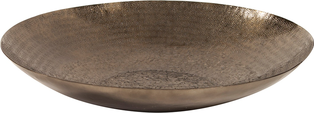 Howard Elliott Deep Bronze Decorative Bowl With Chisel Texture Large Hr35088 From Walter E