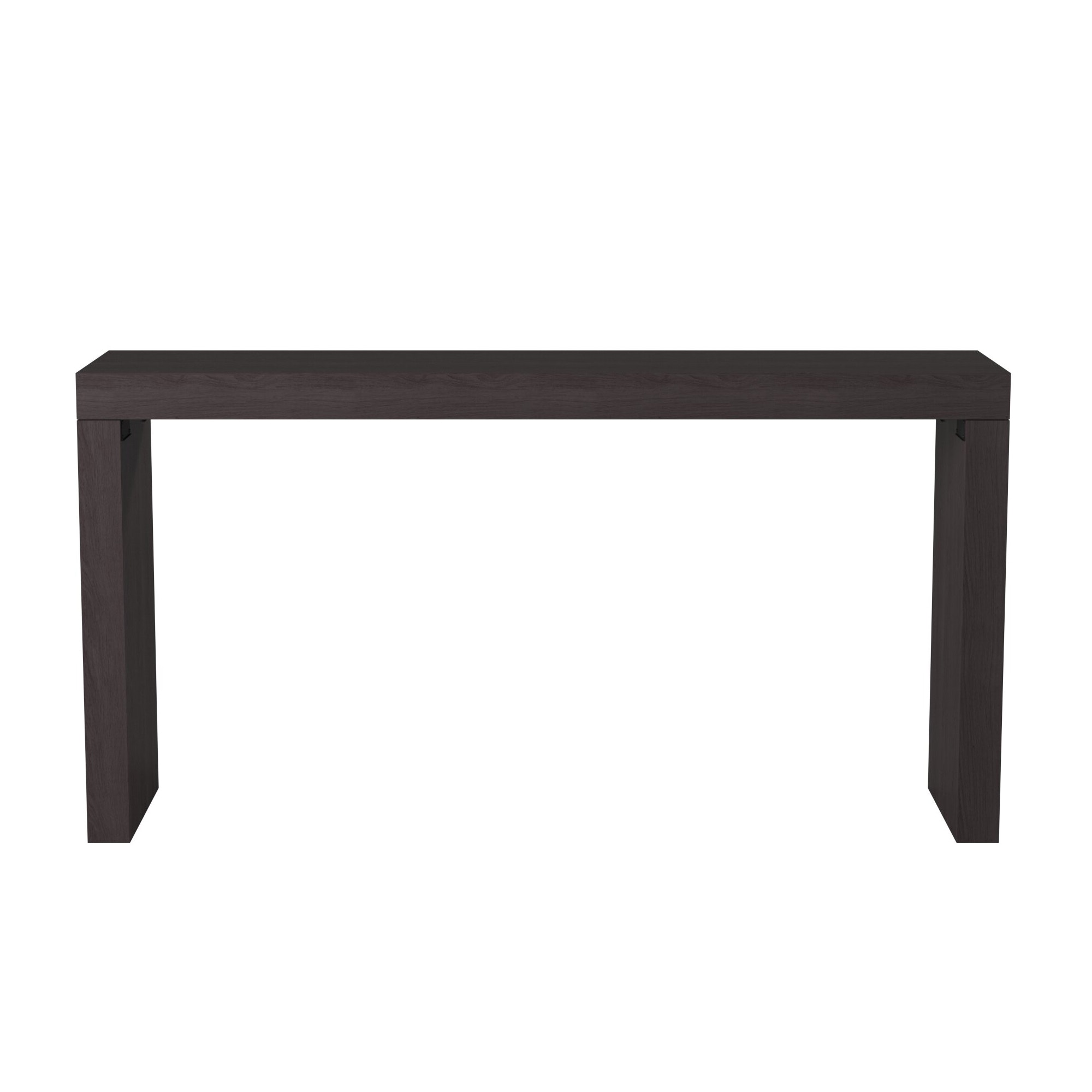 Howard Elliott Jennifer Black Wood Grain Veneer Console Table (KD  Construction) 37131