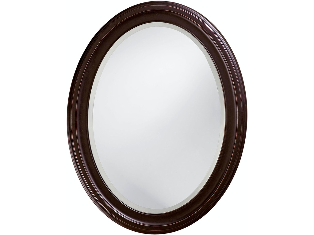 George Oil Rubbed Bronze Oval Mirror Hr40108