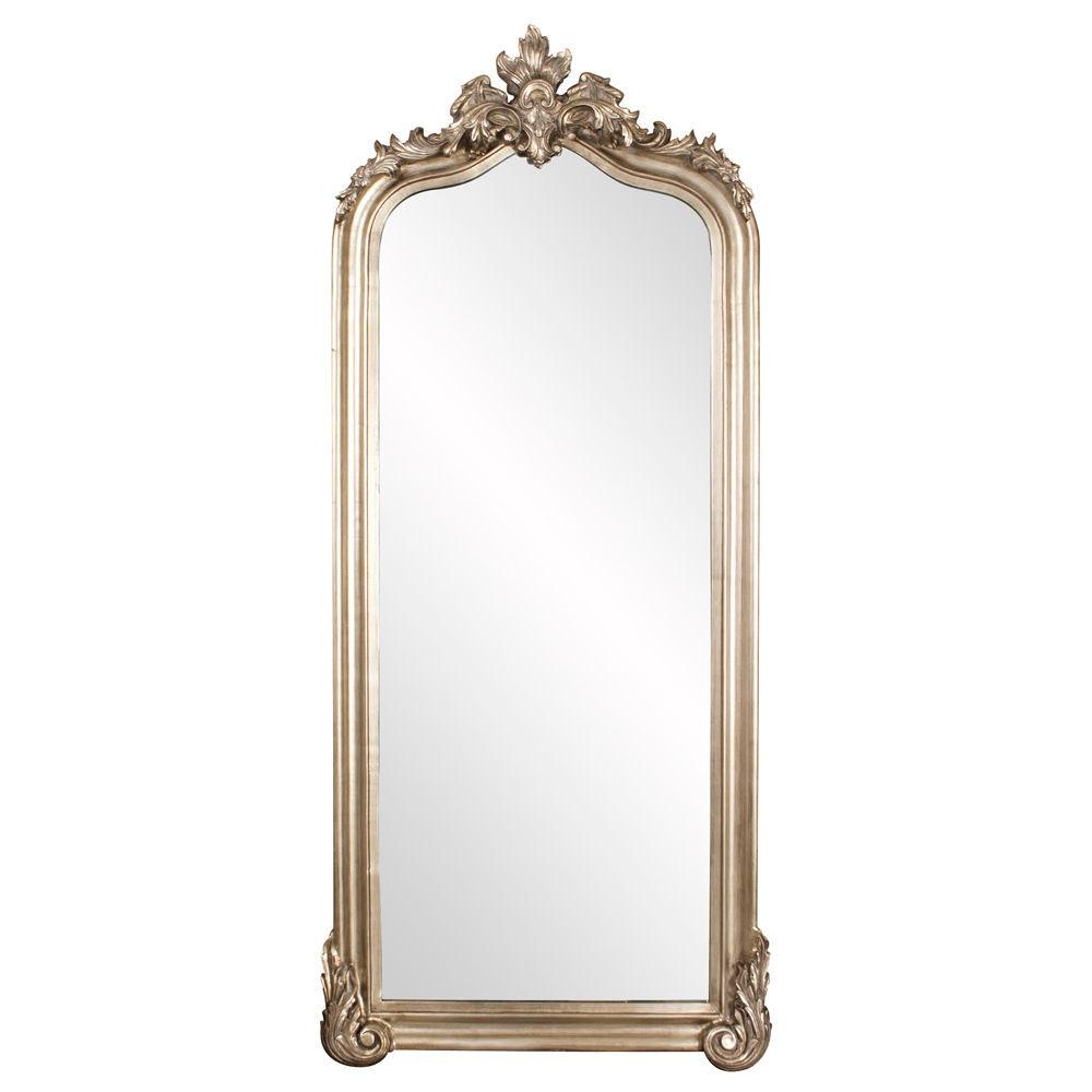 Howard Elliott Tudor Silver Floor Mirror 53073 From Walter E. Smithe  Furniture + Design