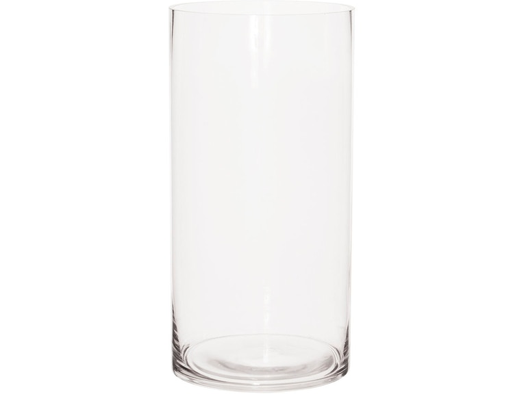Clear Hand Blown Glass Cylinder Vase Tall Hr93059