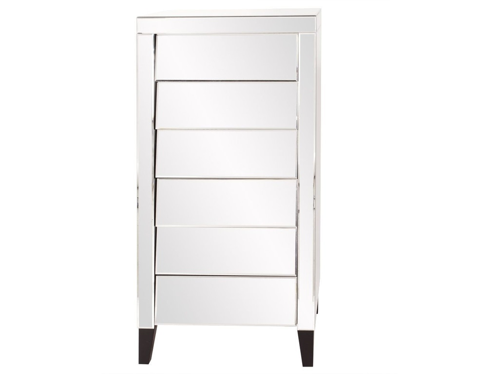 Howard Elliott Bedroom Mirrored 6 Drawer Tall Dresser HR99025 Walter E.  Smithe Furniture + Design
