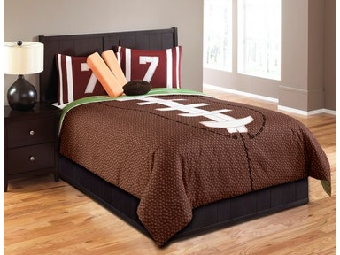 Hallmart Collectibles Touchdown 5 Piece Twin Comforter Set 43667
