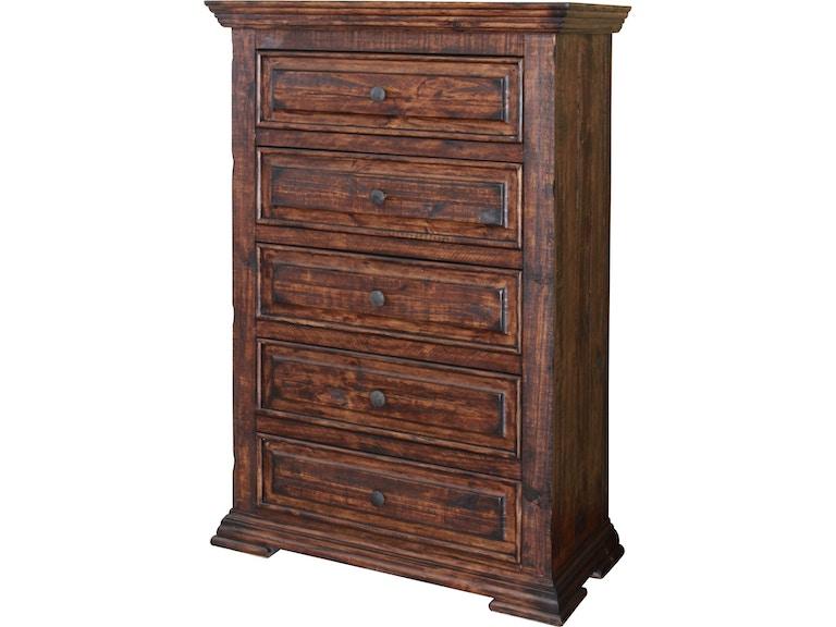 International Furniture Direct Bedroom 5 Drawer Chest ...