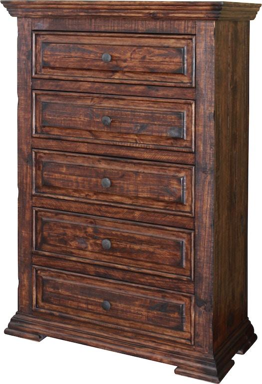 International Furniture Direct Bedroom 5 Drawer Chest