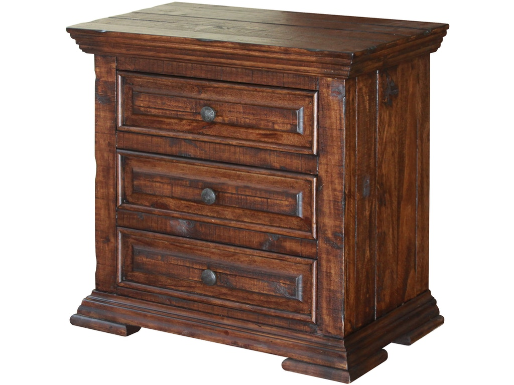 International furniture direct bedroom 3 drawer nightstand for Direct furniture