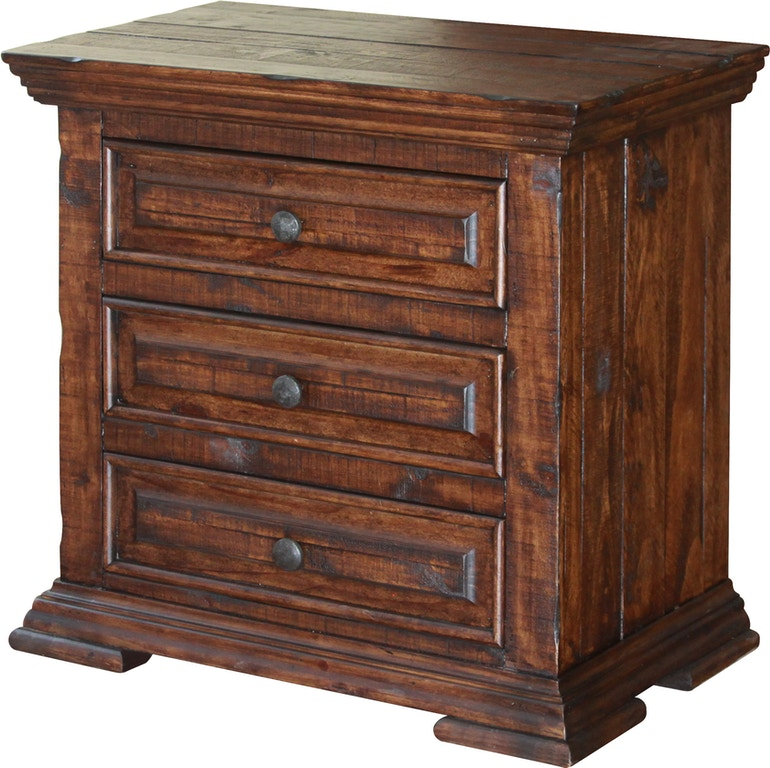 International Furniture Direct Bedroom 3 Drawer Nightstand ...