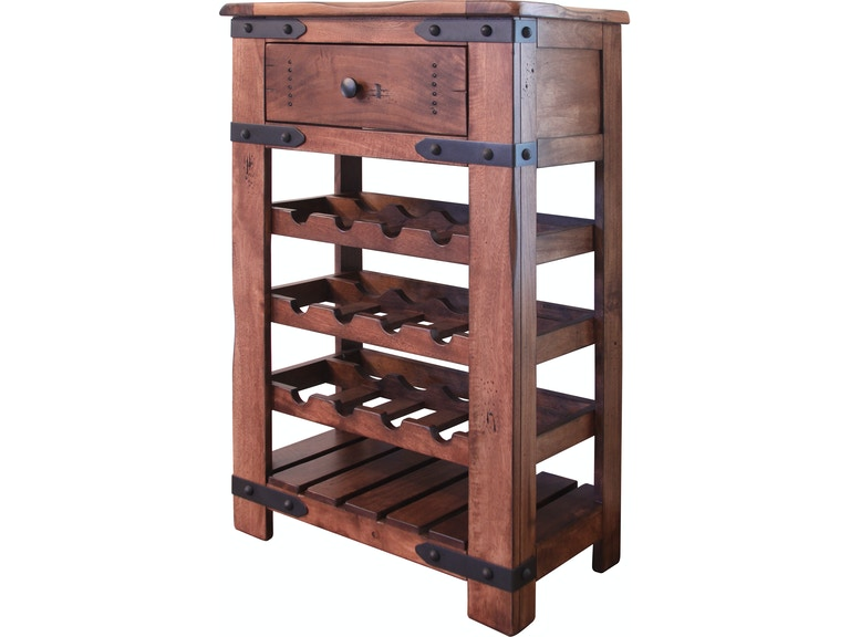 International Furniture Direct Bar And Game Room Wine Cabinet 1 Drw
