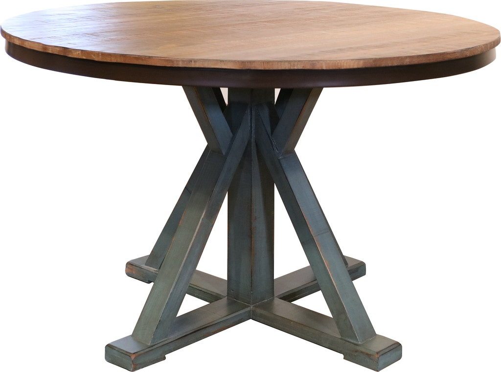 International Furniture Direct 51 Round Dining Table Top With Iron Skirt IFD969RND T