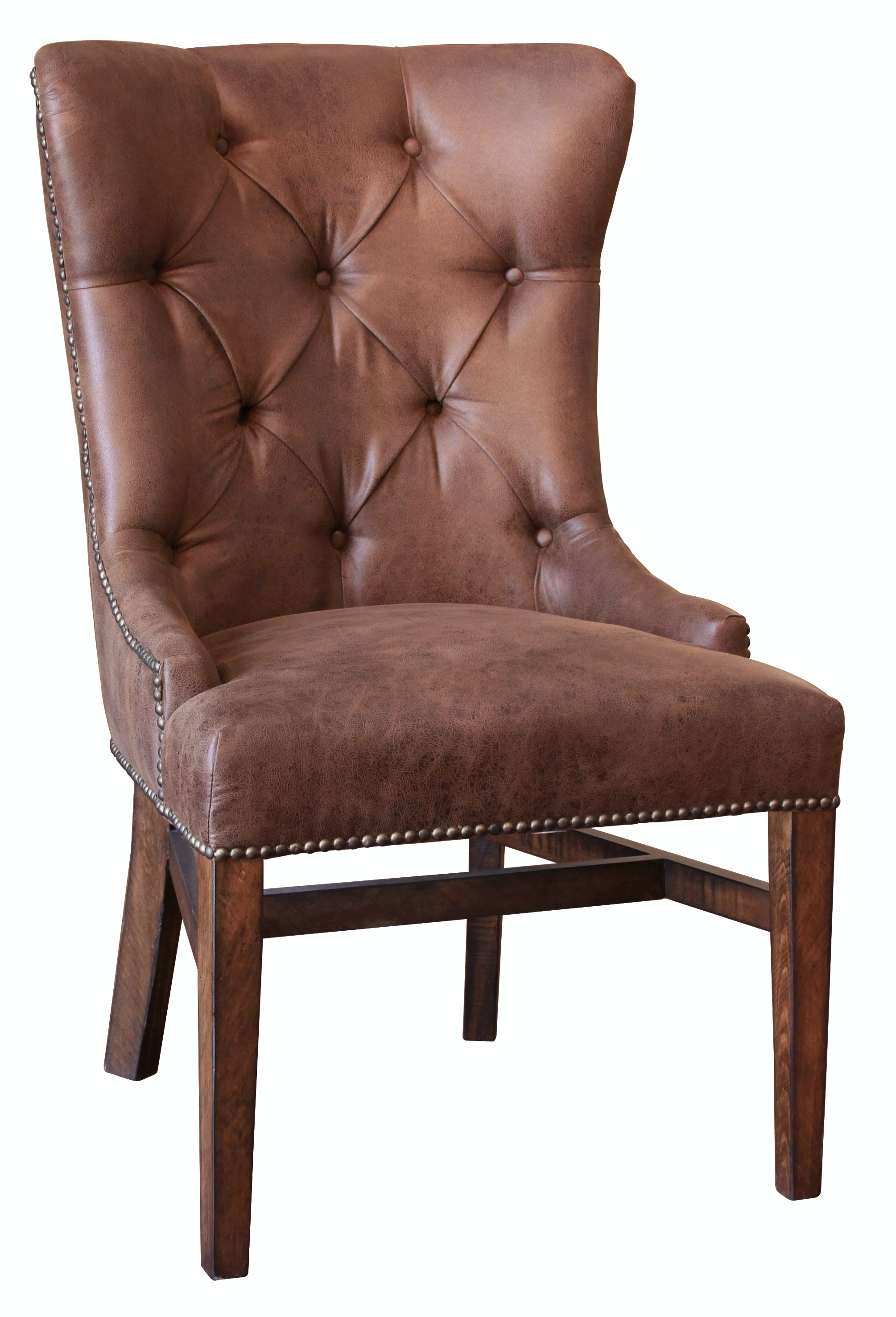 International Furniture Direct Brown Fabric Chair With Tufted Back (2 Per  Box) IFD1020CHAIR