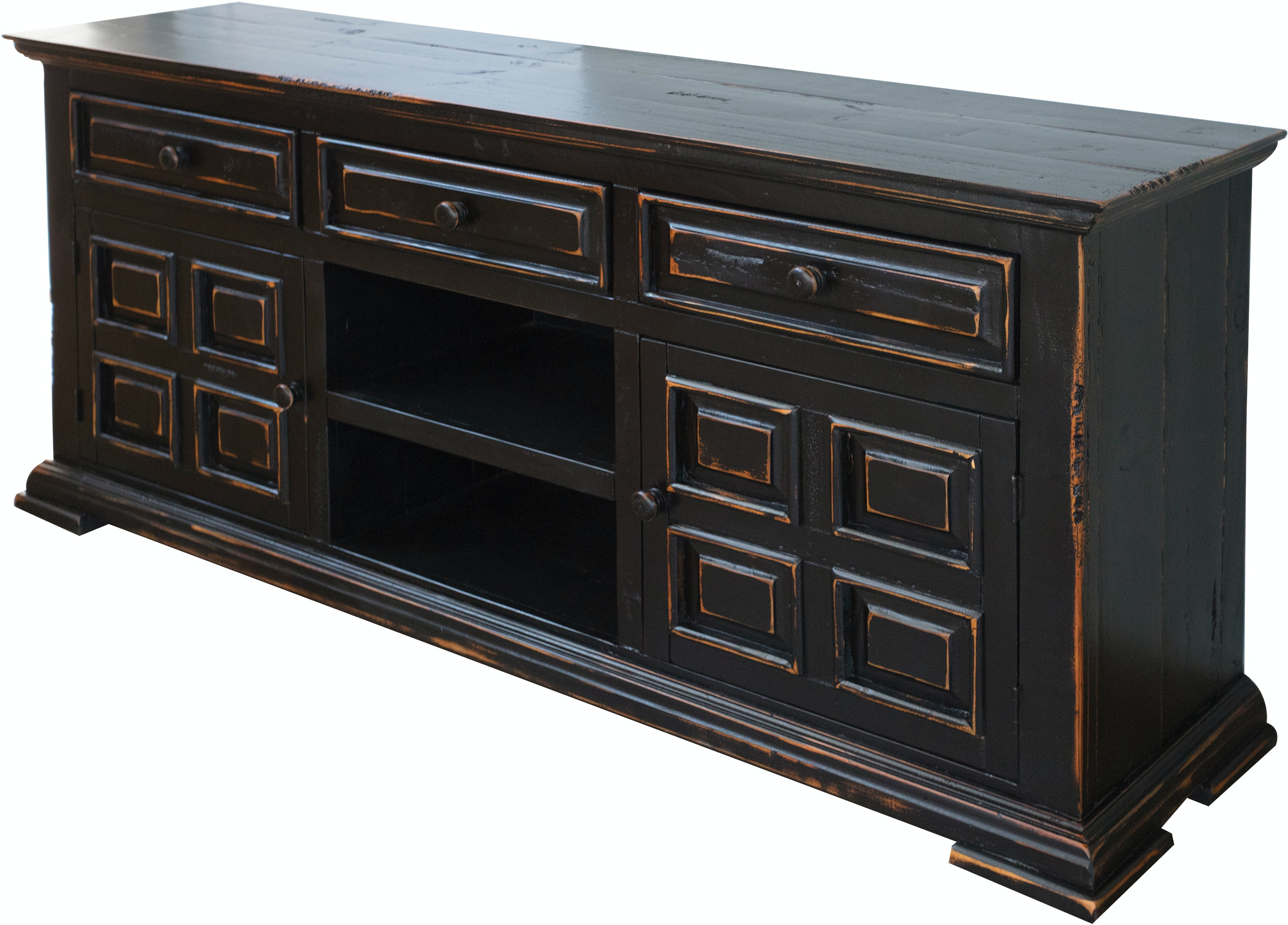 International Furniture Direct Home Entertainment 3 Drawers 2 Wood