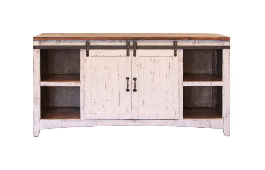 International Furniture Direct 2 Sliding central doors with Shelves each side IFD360CONS  sc 1 st  Woodley\u0027s Fine Furniture & International Furniture Direct 2 Sliding central doors with Shelves ...