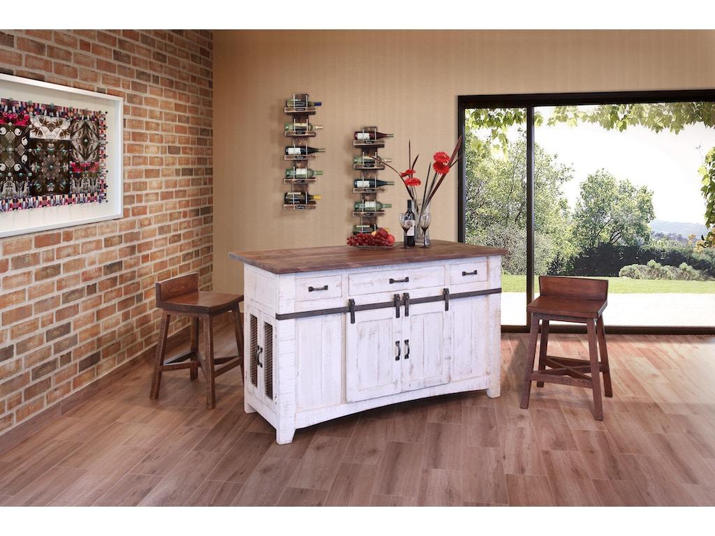 International Furniture Direct 3 Drawer Kitchen Island