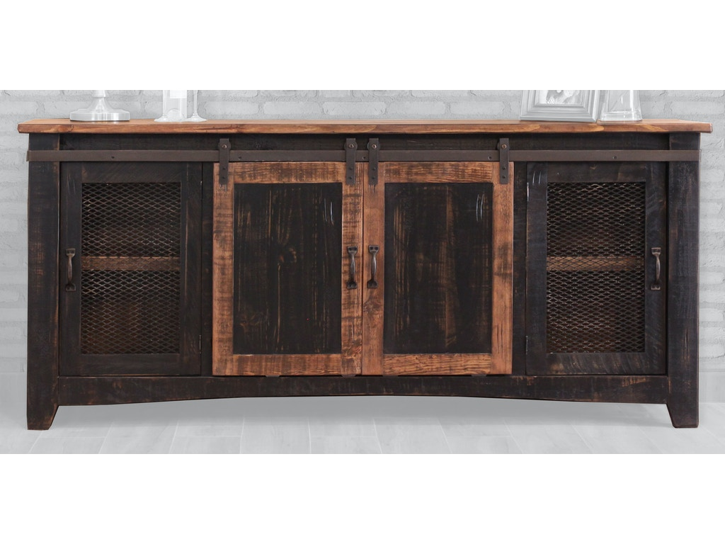International furniture direct home entertainment 80 tv stand with 4 doors and shelves ifd370stand 80 at morris furniture company