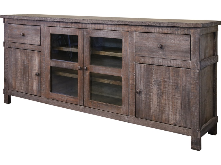 International Furniture Direct Home Entertainment 80 Tv Stand With