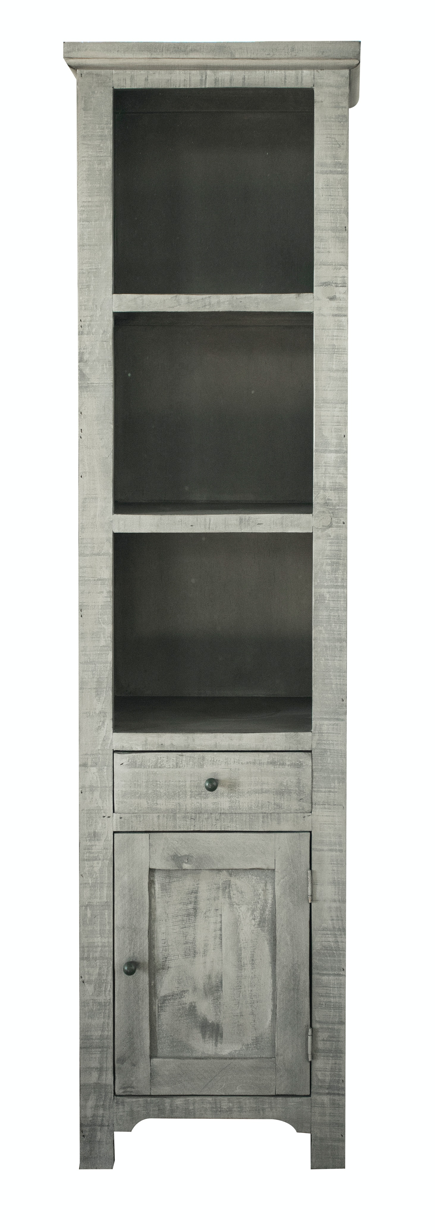 International Furniture Direct Home Office Bookcase Pier 1Drw 1Dr Rivera  Stone 466528 At Naturwood Home Furnishings