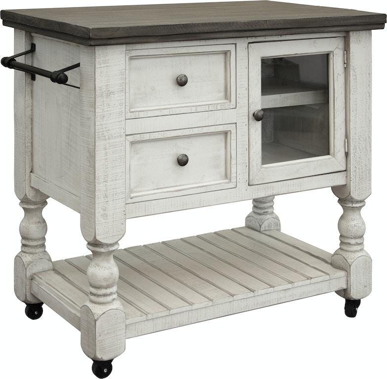 International Furniture Direct Kitchen Island IFD4691KSL ...