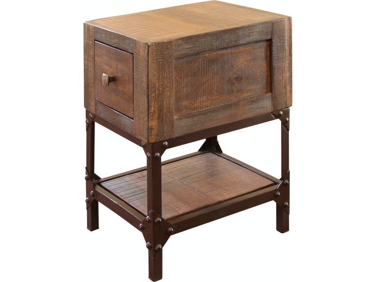 International Furniture Direct Living Room Chair Side Table