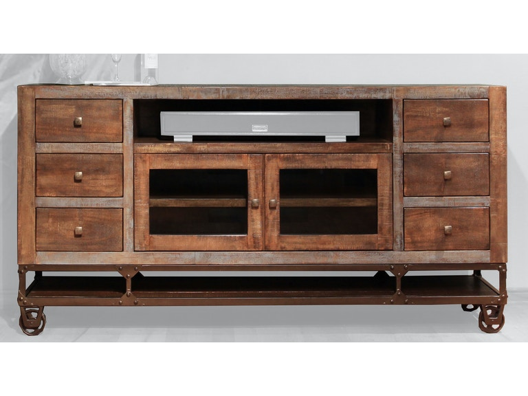 International Furniture Direct Home Entertainment 76 Tv Stand With