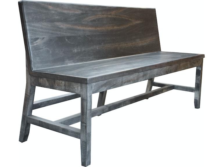 International Furniture Direct Living Room Solid Wood Bench
