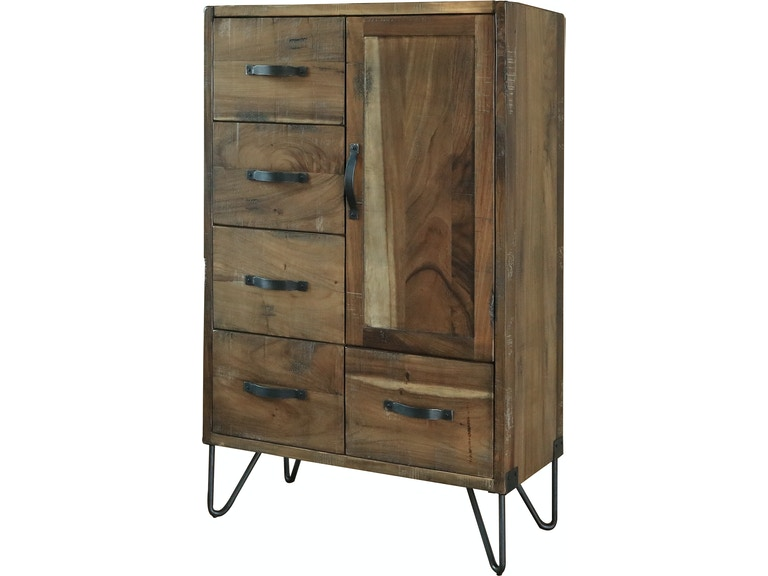 International Furniture Direct Bedroom 5 Drawer 1 Door Chest