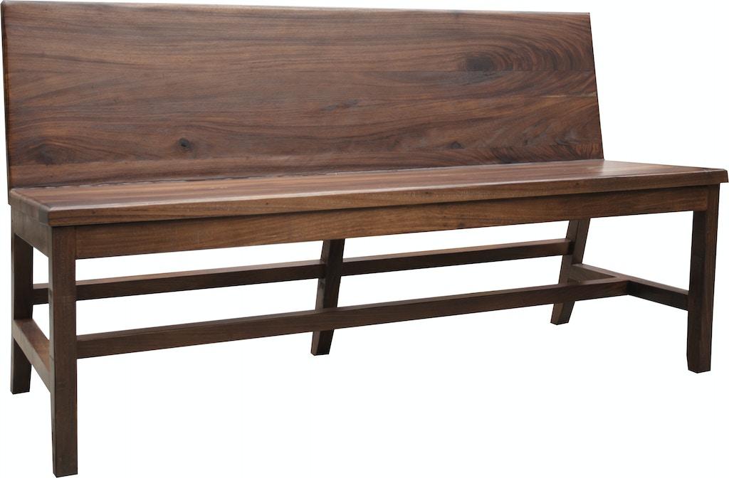International Furniture Direct Living Room Solid wood Bench ...