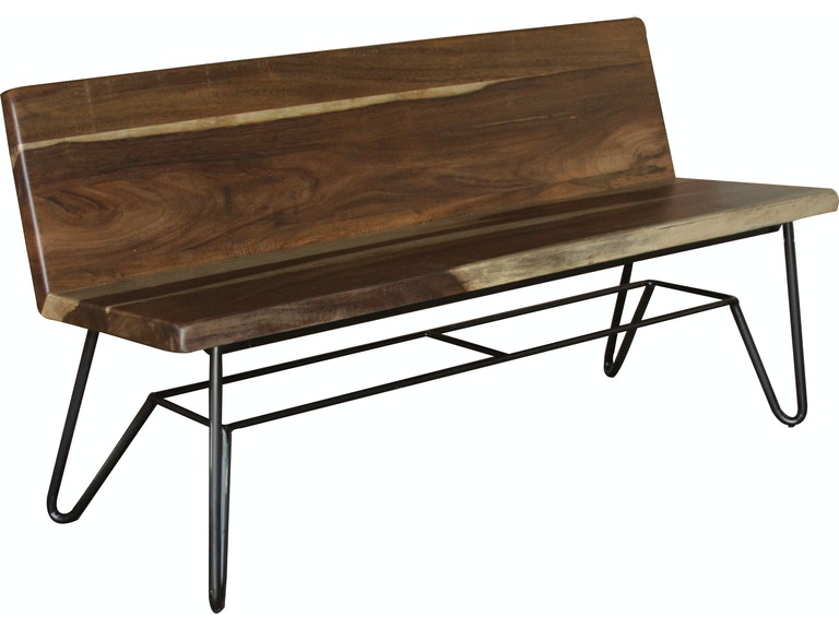 International Furniture Direct Dining Room Bench With Iron Base
