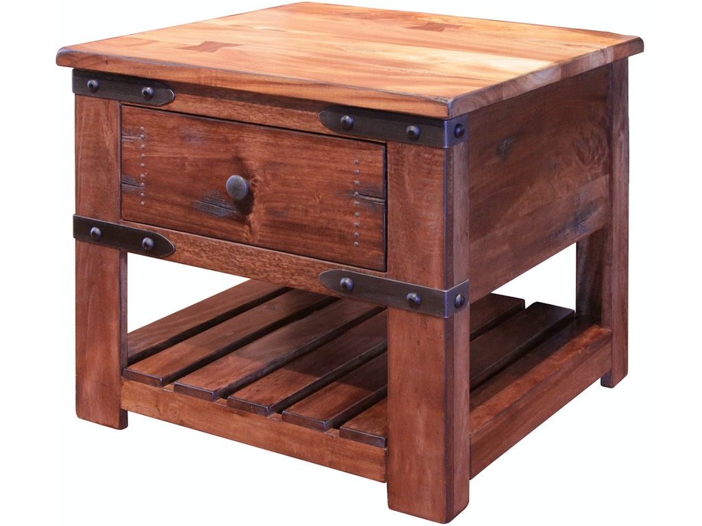 International Furniture Direct Living Room End Table With 1 Drawer Ifd866end Seaside Furniture