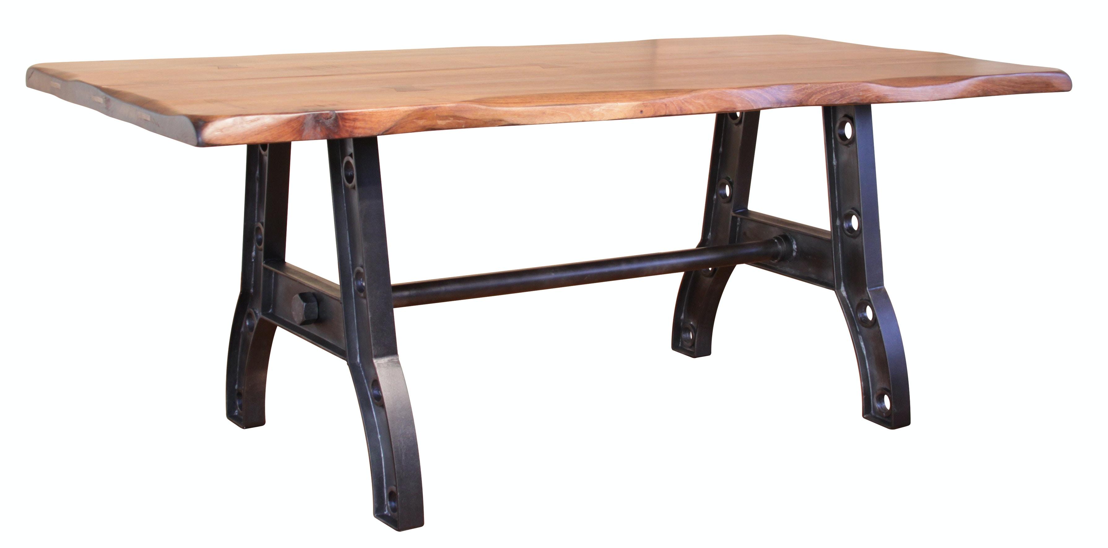 International Furniture Direct Iron Base, Industrial Style (KD)  Dark Gray Metallic  Finish