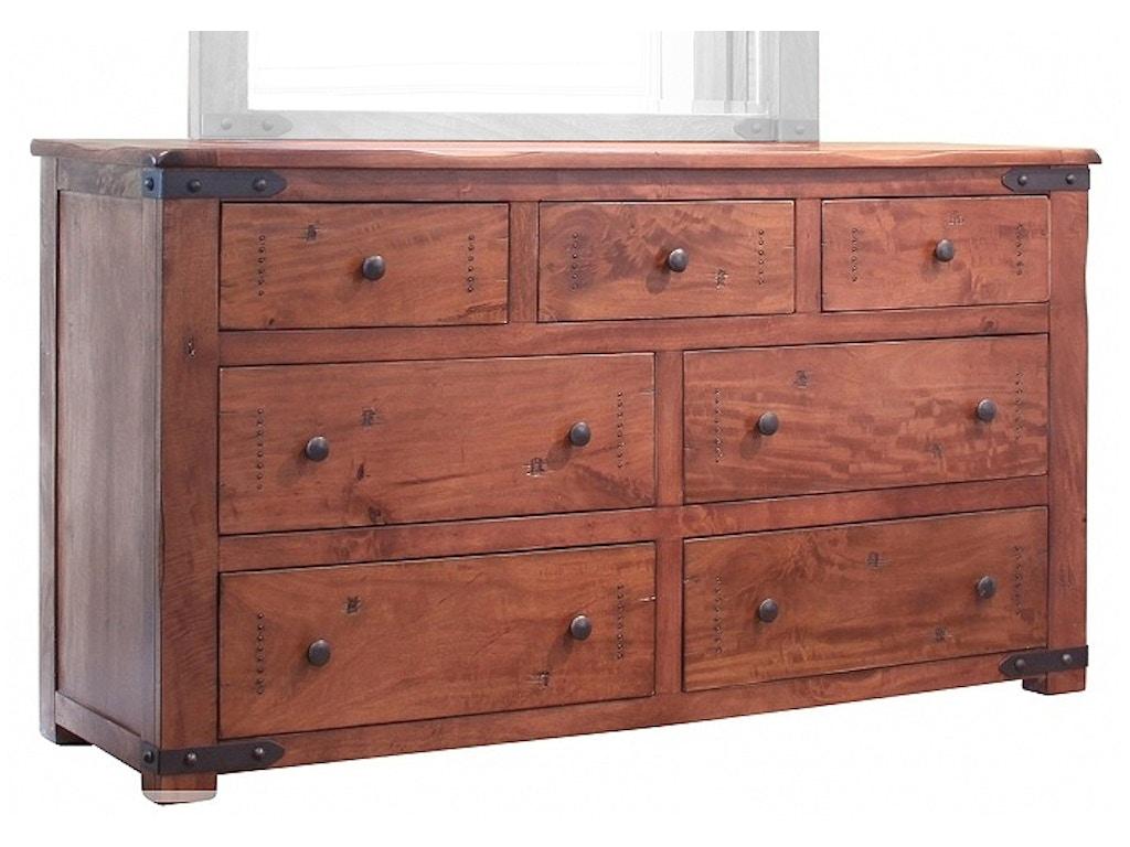 International furniture direct bedroom 7 drawer dresser for Bedroom furniture direct
