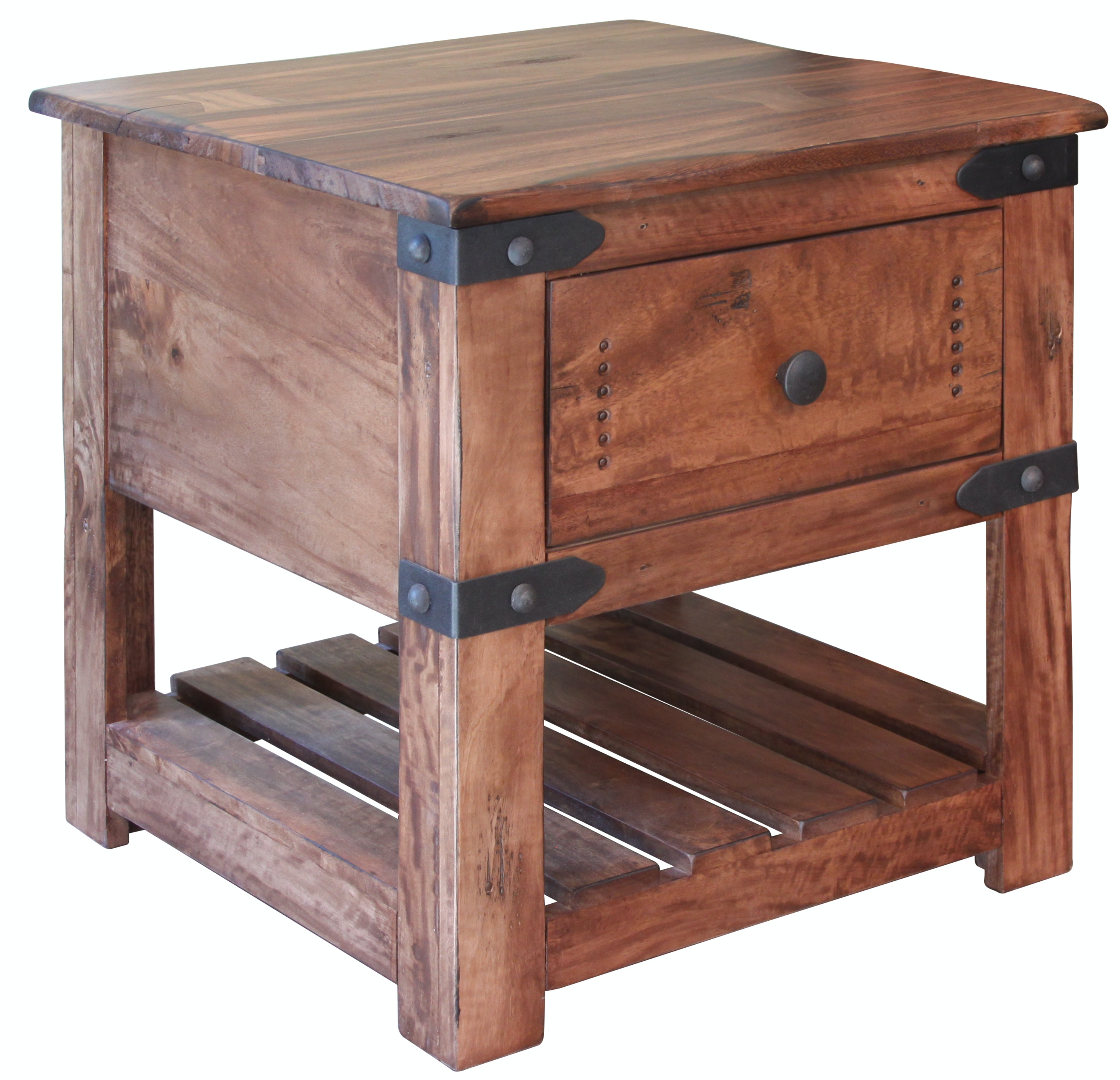 International Furniture Direct Living Room End Table With 1 Drawer  IFD867END At Furniture Plus Inc.