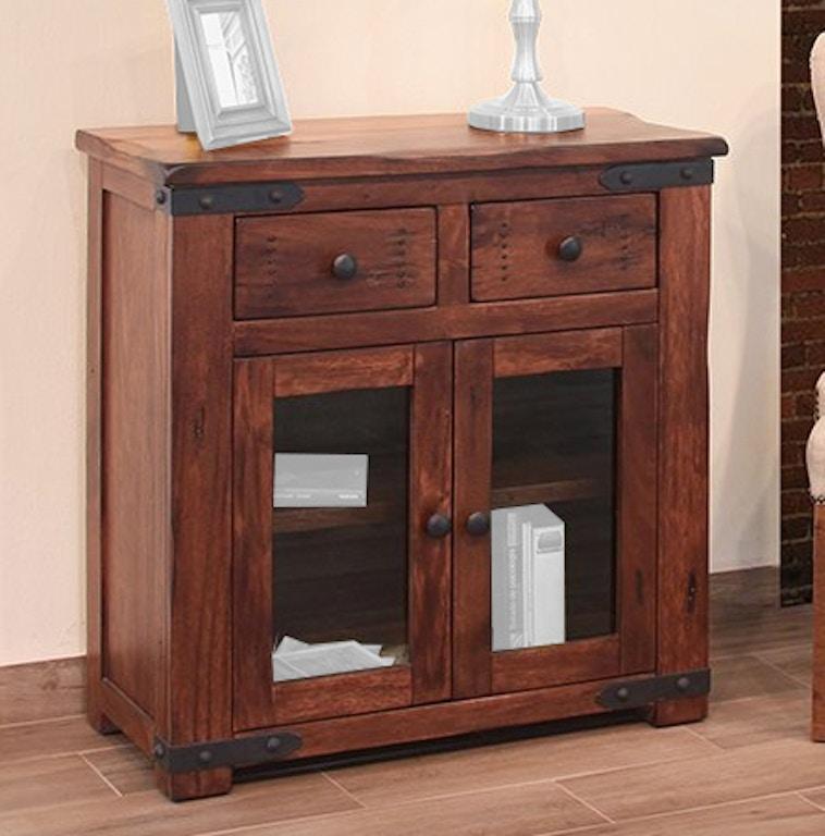 "Rustic Rugs Topeka Ks: International Furniture Direct Living Room 35"" Server"