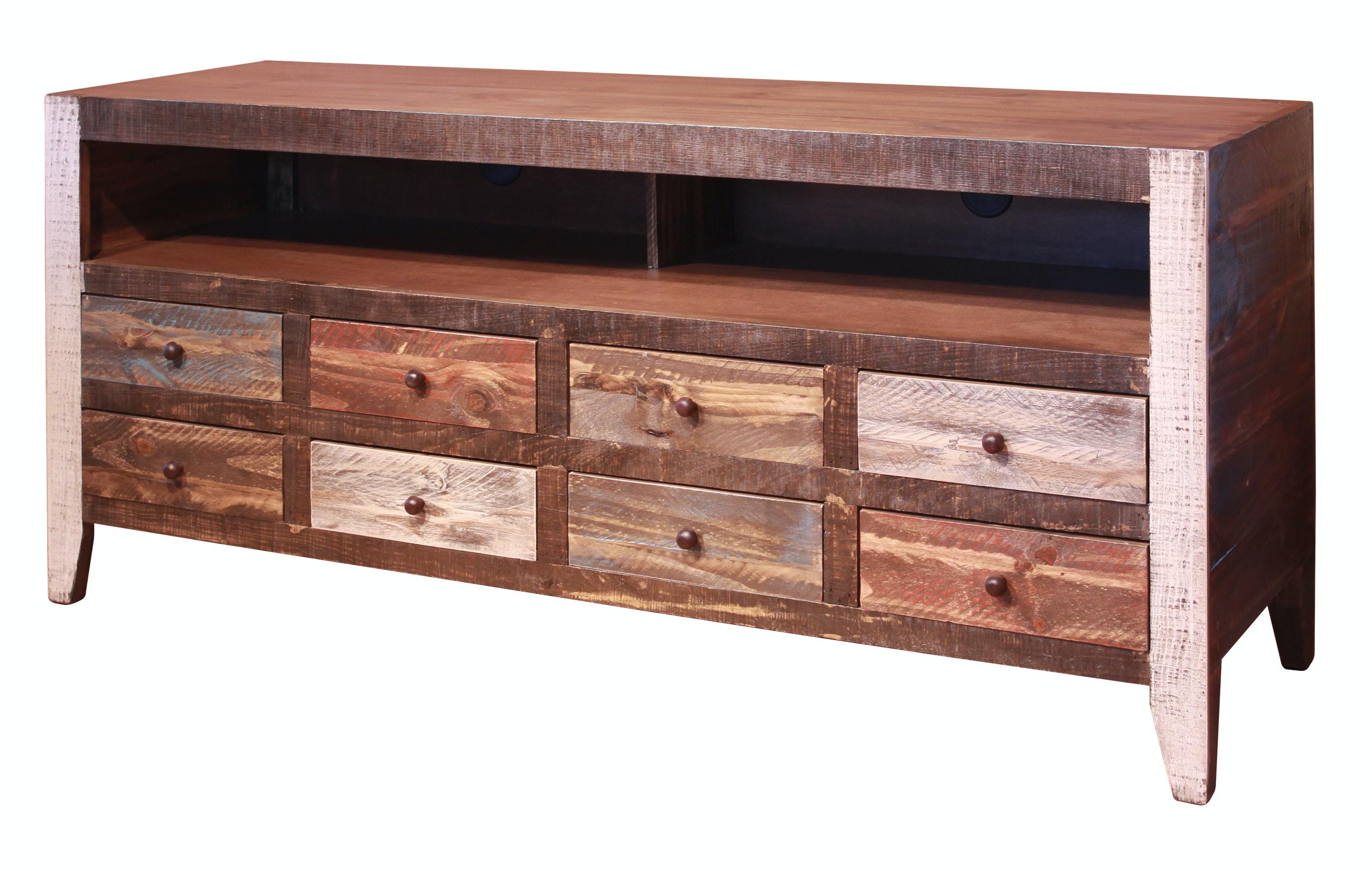International Furniture Direct Home Entertainment Rustic 60 Tv Std