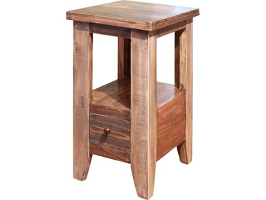 International Furniture Direct Living Room Chair Side Table With 1 Drawer