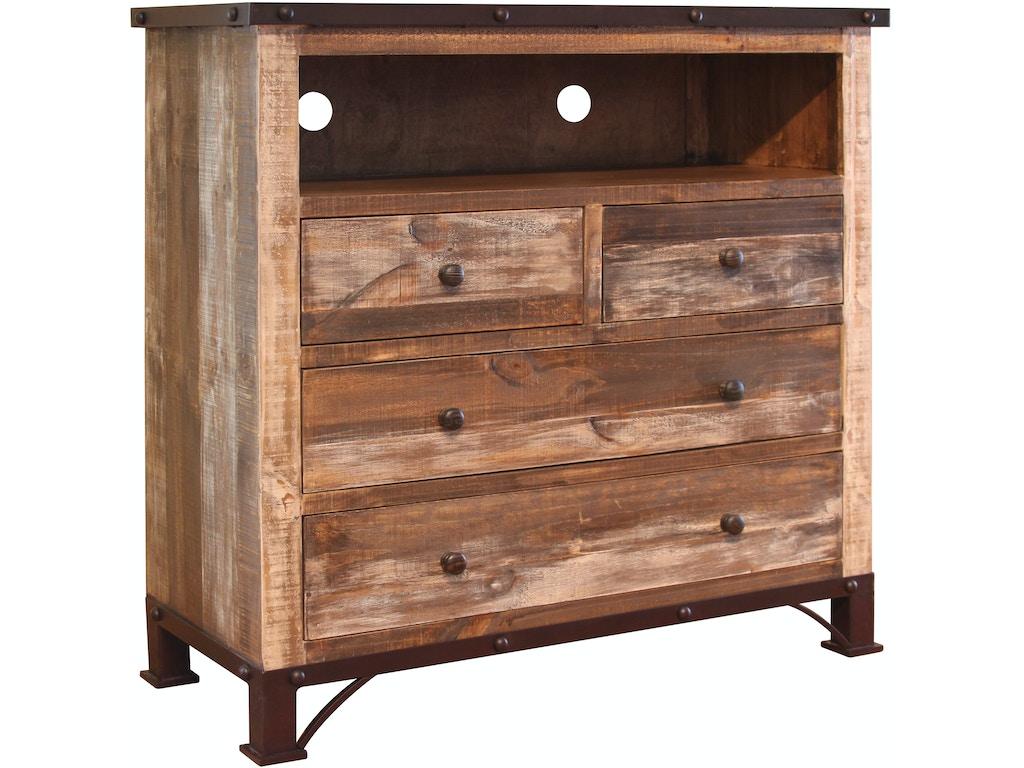 International Furniture Direct Bedroom 4 Drawer Media