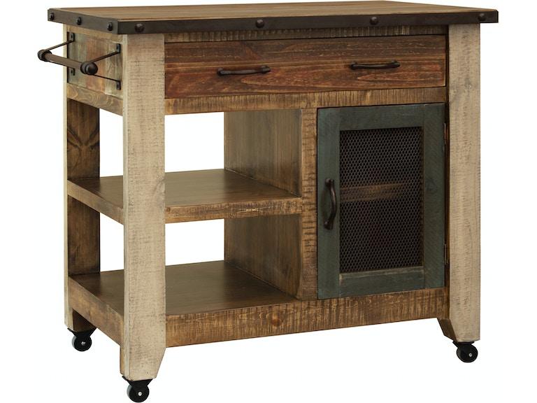 International Furniture Direct Kitchen Island Ifd9671ksl Emw