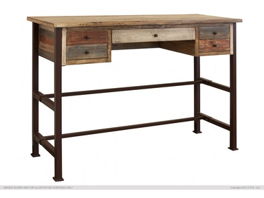 International Furniture Direct Two-tone Antique Desk IFD967DESK