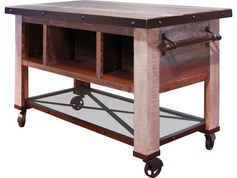 International Furniture Direct 5 Drawer Kitchen Island with bottom ...
