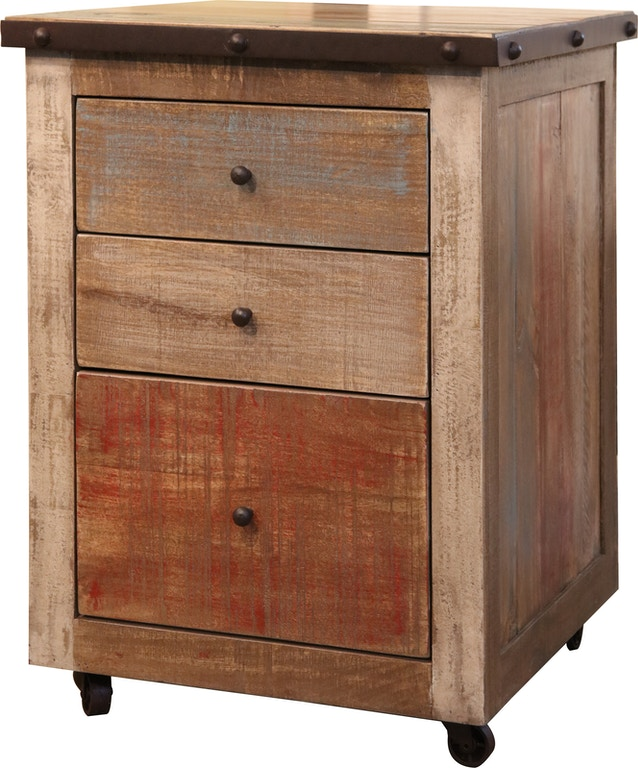 International Furniture Direct Home Office 3 Drawers File