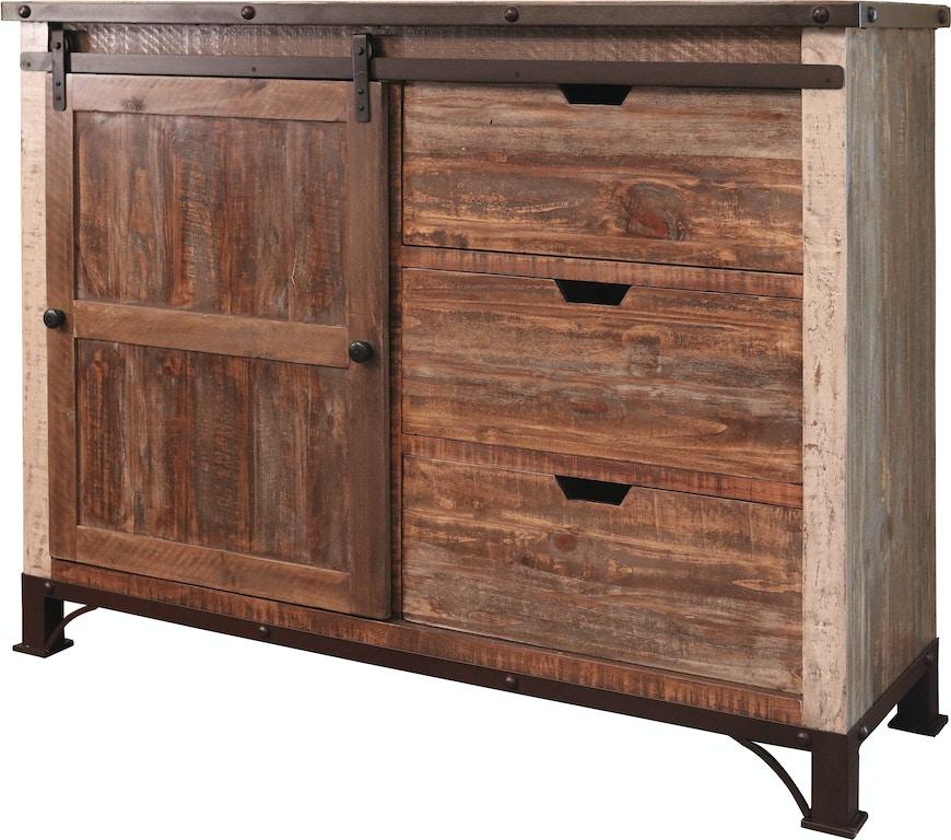 International Furniture Direct Bedroom 3 Drawer 1 Sliding Door Chest Ifd969chest Blockers