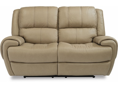 Flexsteel Leather Power Reclining Loveseat With Power Headrests 1179-60PH
