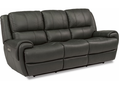 Flexsteel Leather Power Reclining Sofa With Power Headrests 1179-62PH