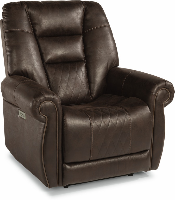 Flexsteel Living Room Fabric Power Recliner With Power