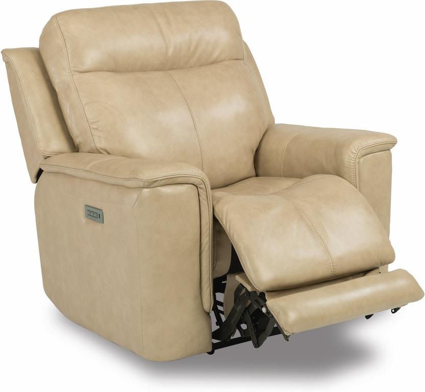 Miraculous Flexsteel Living Room Leather Power Recliner With Power Inzonedesignstudio Interior Chair Design Inzonedesignstudiocom
