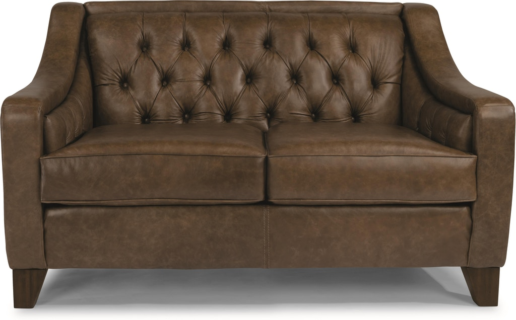 Sensational Flexsteel Living Room Sullivan Leather Loveseat 3103 20 Gmtry Best Dining Table And Chair Ideas Images Gmtryco