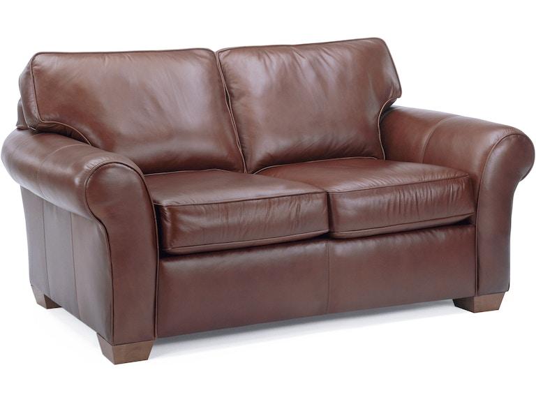 Flexsteel Living Room Vail Leather Loveseat 3305 20 Tin