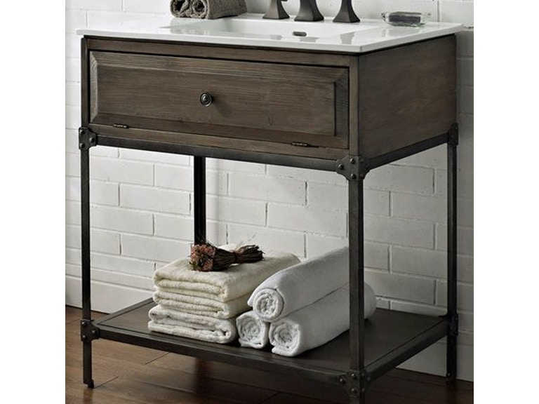 Fairmont Designs Bathroom 30 Inches Open Shelf Vanity 1401-VH30 ...