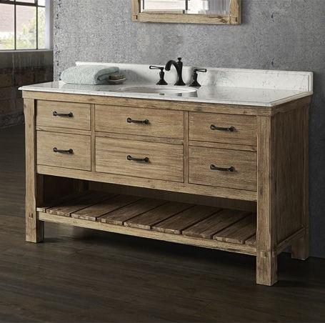 Fairmont Designs Bathroom Napa 60 Inches Open Shelf Vanity   Sonoma Sand  1507 VH60 At Furniture