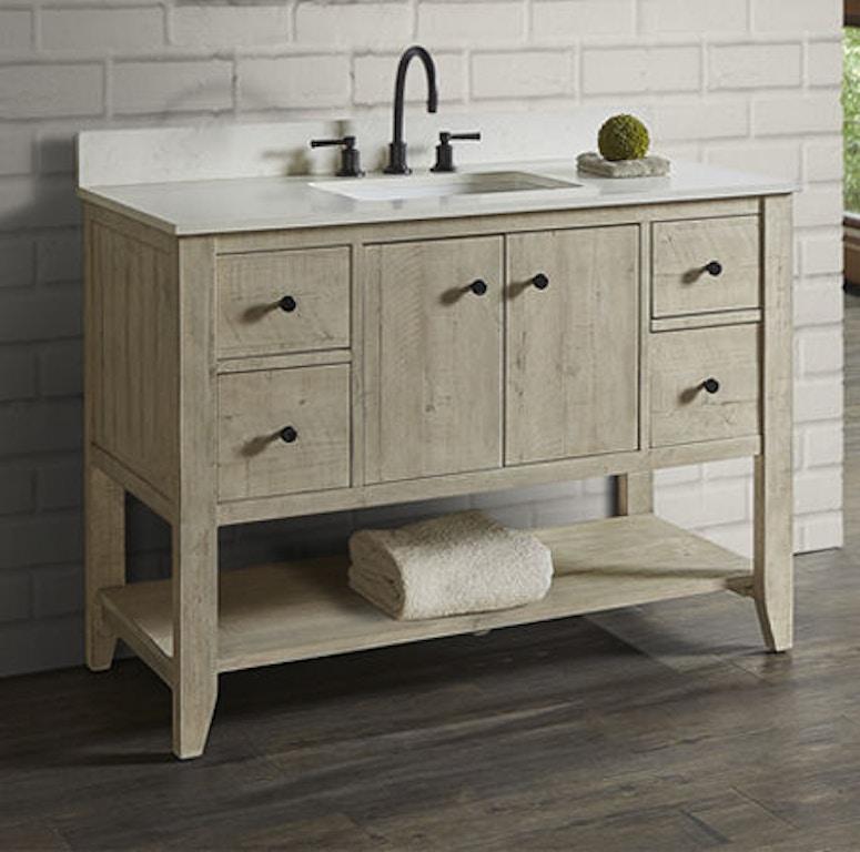 Fairmont Designs Bathroom River View 48 Inches Open Shelf